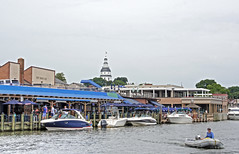 Waterside Bar and Statehouse Dome-Annapolis Maryland 06304