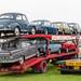 Vintage vehicles on Vintage transporter