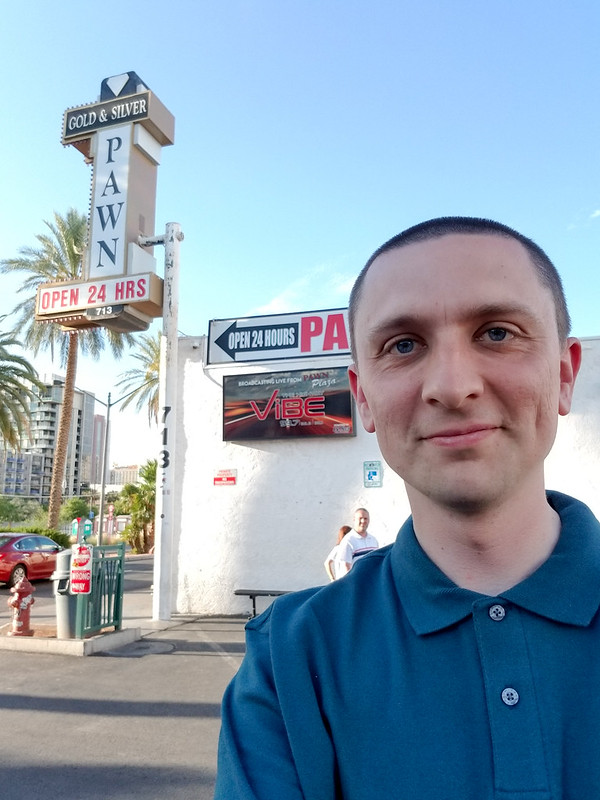 Me in front of Pawn Stars pawn shop!