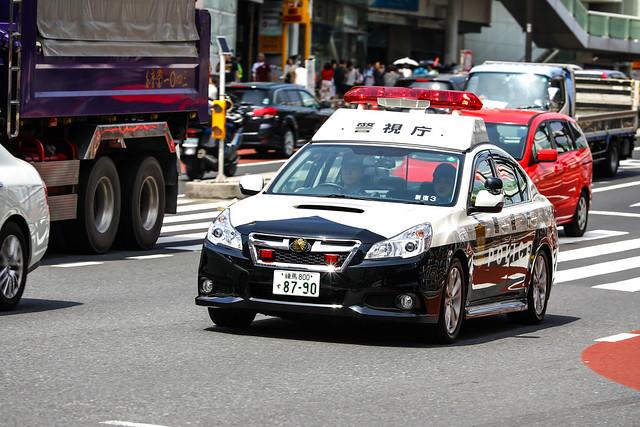 Subaru Legacy police car