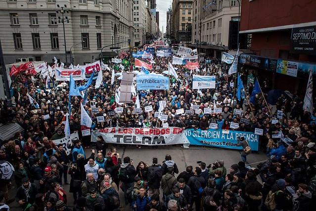 Manifestação realizada na tarde desta quinta-feira (5) em Buenos Aires - Créditos: Emergentes