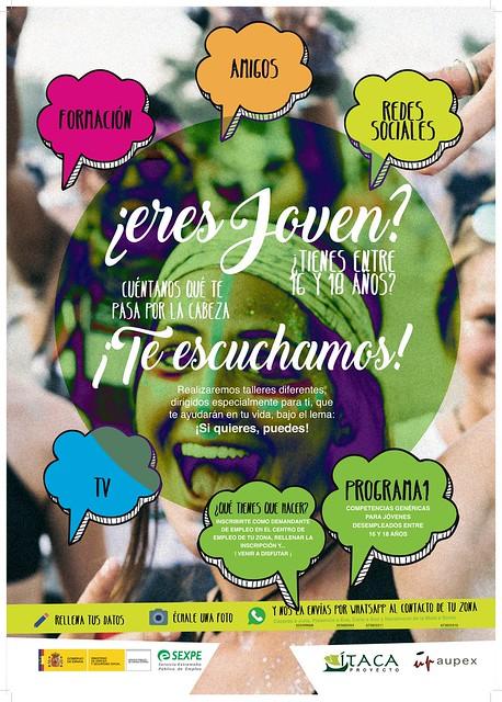 Proyecto Ítaca para jóvenes de 16 a 18 años y demandantes de empleo