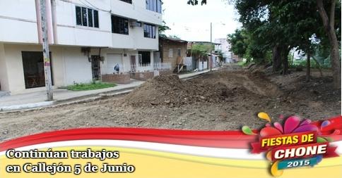 Continúan trabajos en Callejón 5 de Junio