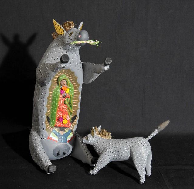 Burro with Guadalupe Oaxaca Mexico