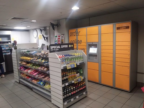 Amazon pick up center in a Merseyrail ticket office