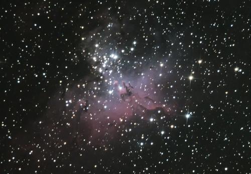 The Eagle Nebula (M16) Cropped 2x Drizzle