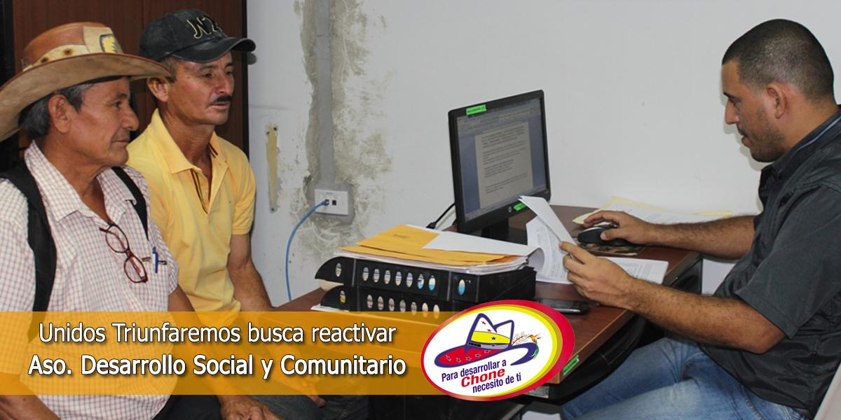 Unidos Triunfaremos busca reactivar Aso. Desarrollo Social y Comunitario