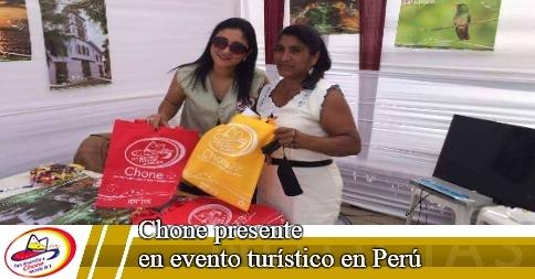 Chone presente en evento turístico en Perú