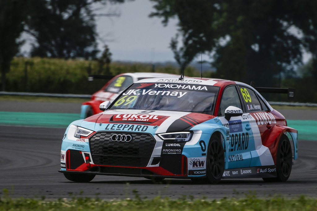69 VERNAY Jean-Karl, (fra), Audi RS3 LMS TCR team Audi Sport Leopard Lukoil, action during the 2018 FIA WTCR World Touring Car cup race of Slovakia at Slovakia Ring, from july 13 to 15 - Photo François Flamand / DPPI.