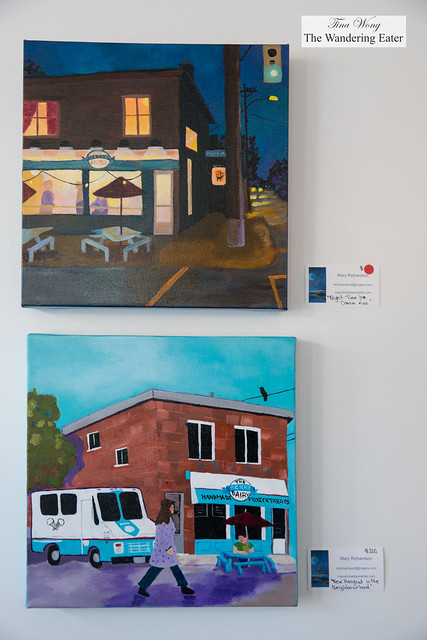 Painting of Merry Dairy day and night by a local Ottawa based artist