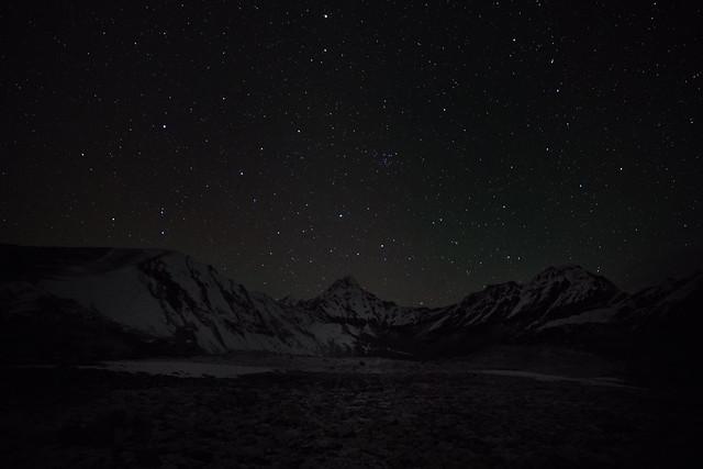 Ama Dablam at night from Hongu Valley