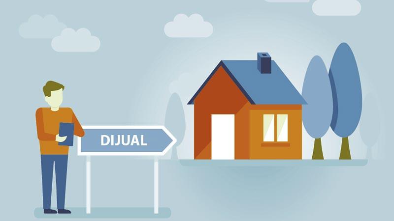 Ilustrasi. Menjual rumah.
