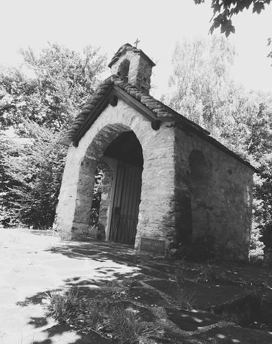 A little chapel at Monti di Ravecchia in Bellinzona, Canton Ticino. Switzerland