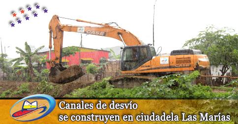 Canales de desvío se construyen en ciudadela Las Marías
