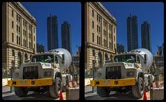 Toronto construction site 3-D / CrossView / Stereoscopy / HDRaw