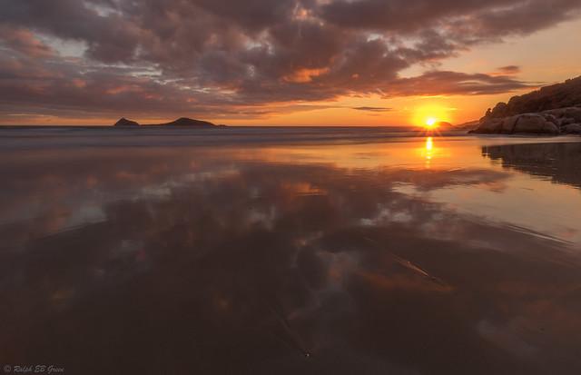 Sunset over Shellback Island