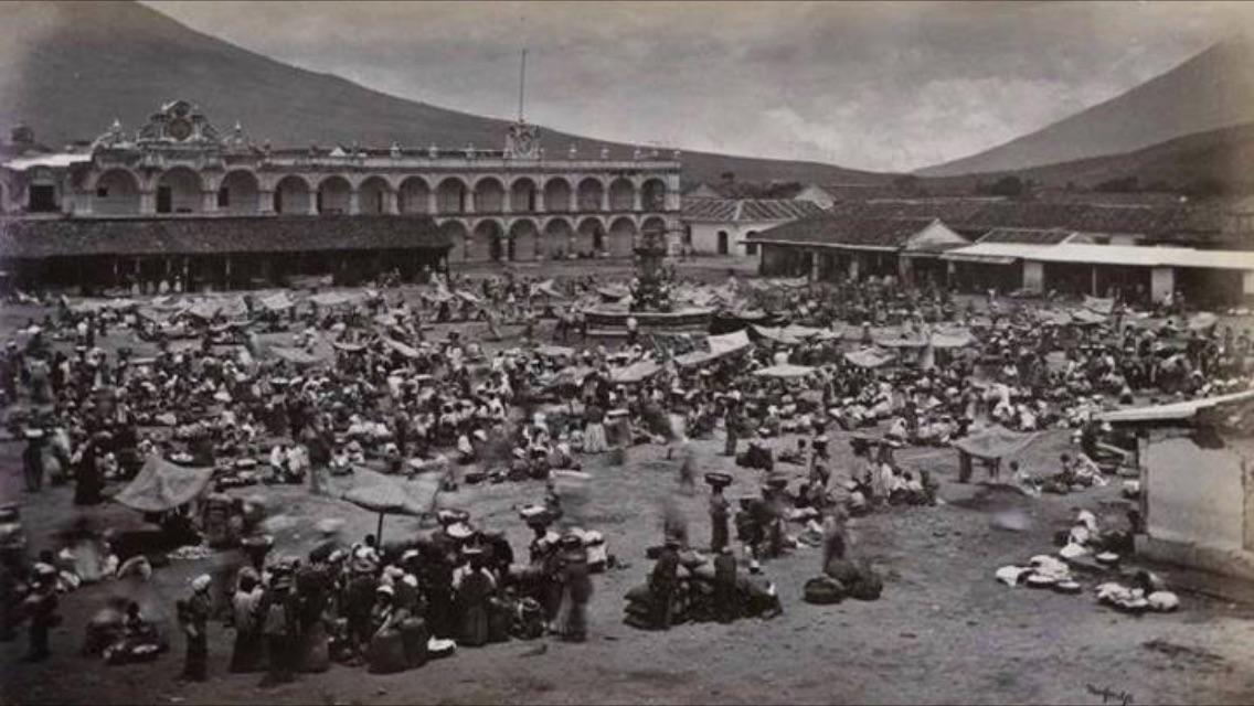 Palacio de los Capitanes generales en 1875