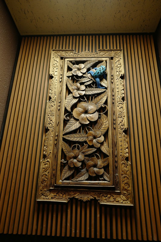 HOTEL SPA ANDA RESORT伊豆高原本館大浴場の青いカエル