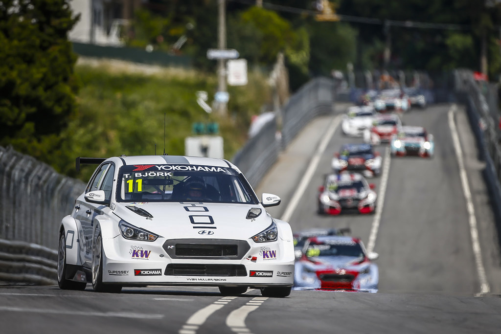 11 BJORK Thed, (swe), Hyundai i30 N TCR team Yvan Muller Racing, action during the 2018 FIA WTCR World Touring Car cup of Portugal, Vila Real from june 22 to 24 - Photo Francois Flamand / DPPI