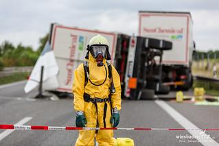 Gefahrgutunfall A63 Saulheim 22.06.18