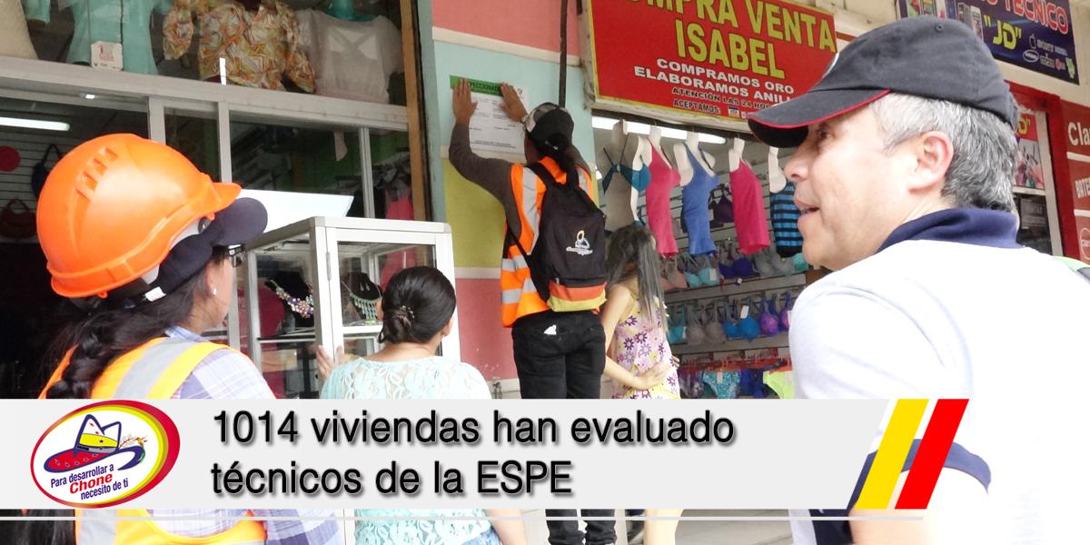 1014 viviendas han evaluado técnicos de la ESPE