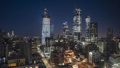 Manhattan West and Hudson Yards Night to Day Time Lapse