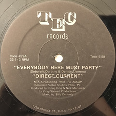 DIRECT CURRENT:EVERYBODY HERE MUST PARTY(LABEL SIDE-A)