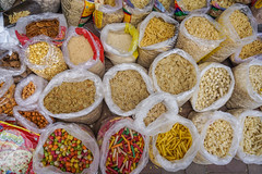 Dried foods for sale at local market