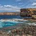 Panoramic shot of where the Azure Window once stood