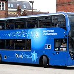 Go South Coast, Bluestar 1639 HF66CFK departs Stand 1 in Winchester Bus Station for Southampton.