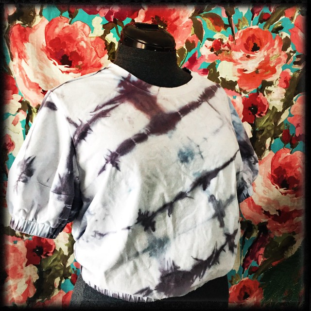 Tie Dyed Cropped Shirt
