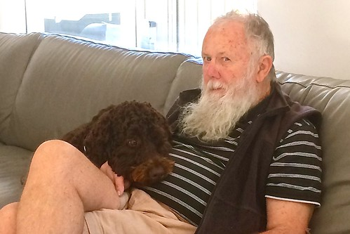 Paul Weaver got a cuddle from Willow 25 June 2018