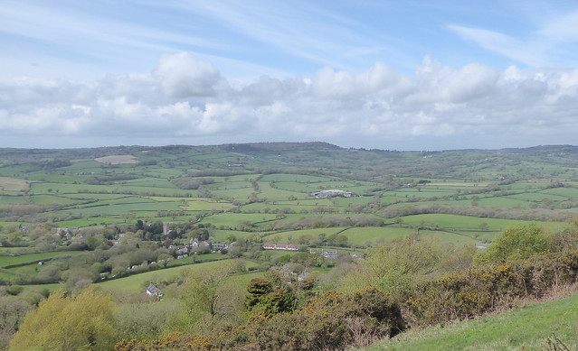 Marshwood Vale and the village of Whitchurch Canonicorum, from Hardown Hill