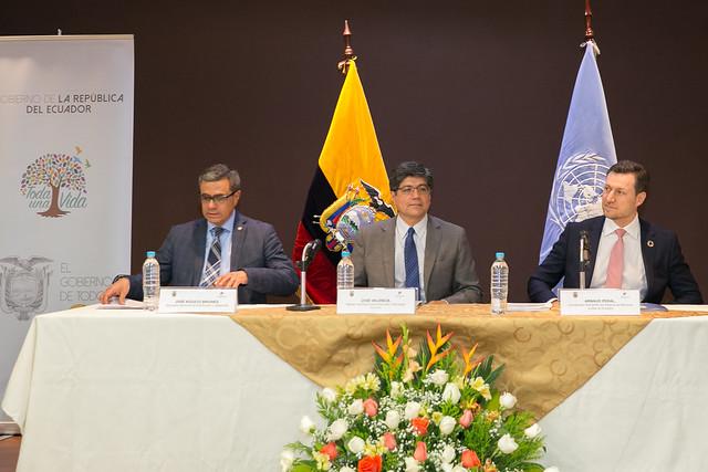Rueda de prensa sobre la presentación del Examen Nacional Voluntario por parte del Ecuador