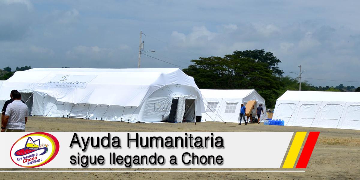 Ayuda Humanitaria sigue llegando a Chone