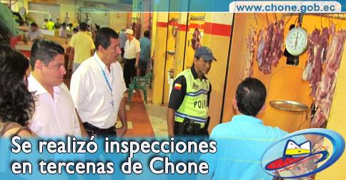 Se realizó inspecciones en tercenas de Chone