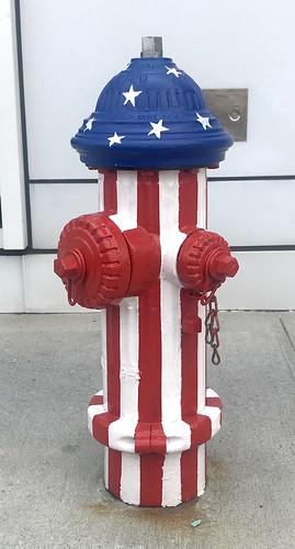Patriotic Fire Plug