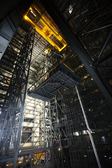 A crane lifts the second half of the B-level work platforms, B north, for NASA's Space Launch System (SLS) rocket. Original from NASA. Digitally enhanced by rawpixel.