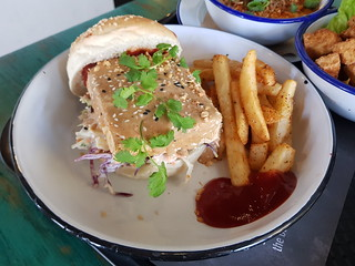 Tanuki Tofu Burger at Netherworld