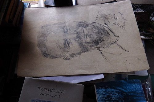 A sketched portrait of my dad's cousin at Rubenlund in Denmark