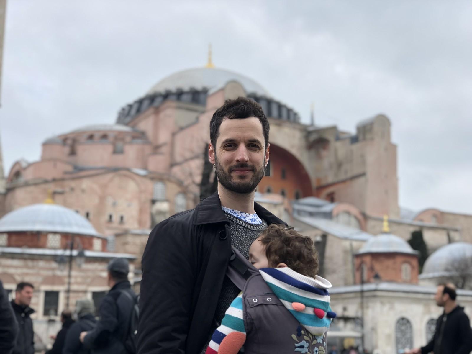 Con papá en Estambul
