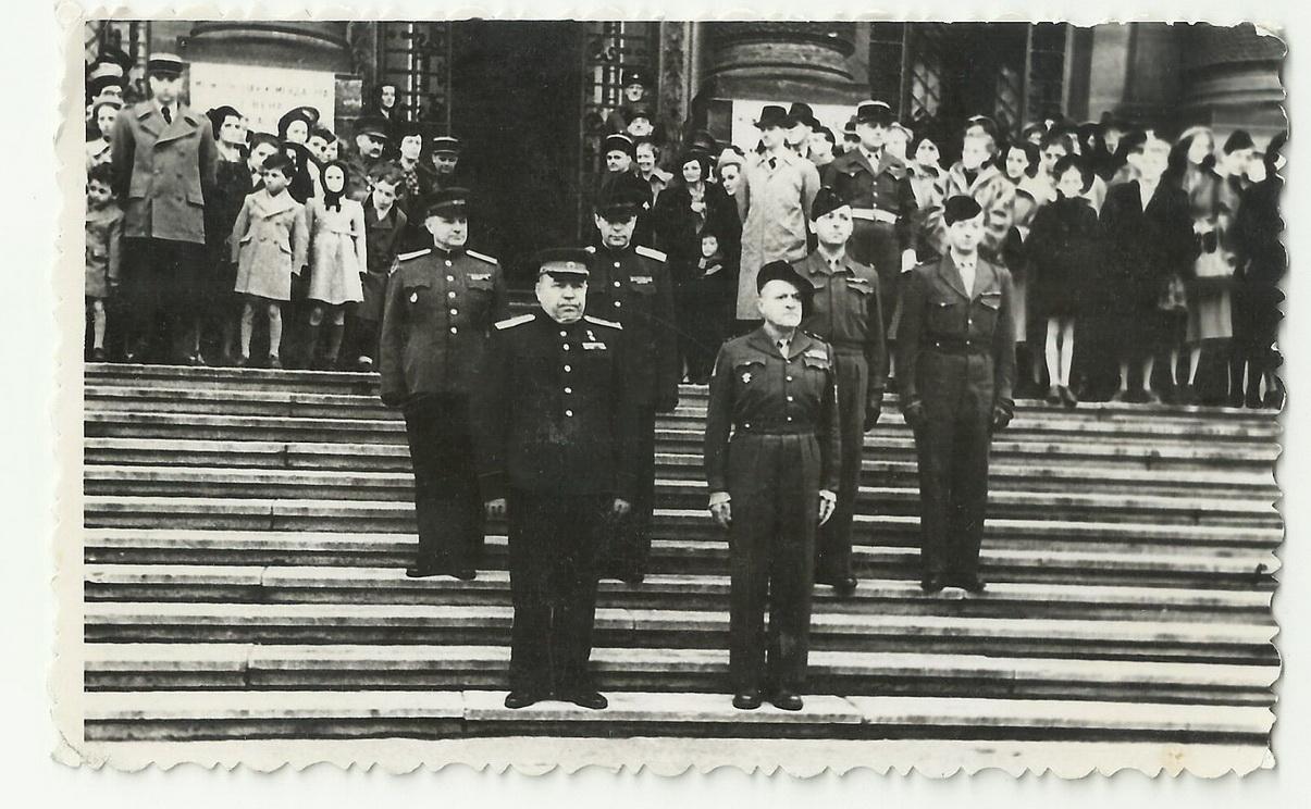 1946. Парад войск держав антигитлеровской коалиции в Вене. 13 апреля