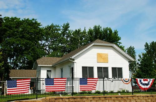 Patriotic home in Randolph, Wisconsin