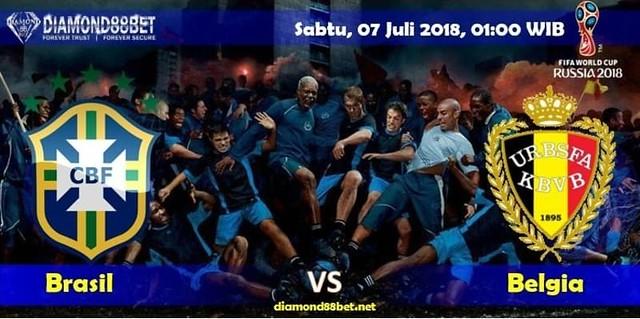 Prediksi Bola Brasil vs Belgia,Hari Sabtu, 07 Juli 2018 – Piala Dunia