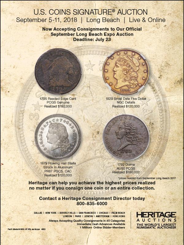 Heritage E-Sylum ad 2018-07-01