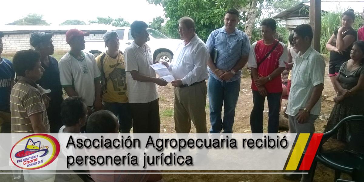 Asociación Agropecuaria recibió personería jurídica