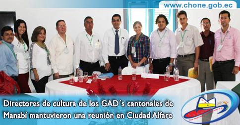 Directores de cultura de los GAD´s cantonales de Manabí mantuvieron una reunión en Ciudad Alfaro