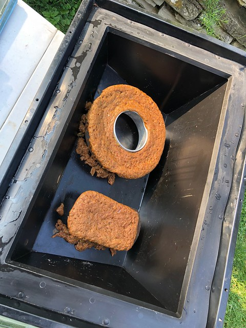 Solar Oven baking Zucchini Bread