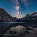 Milky Way over Bow Glacier
