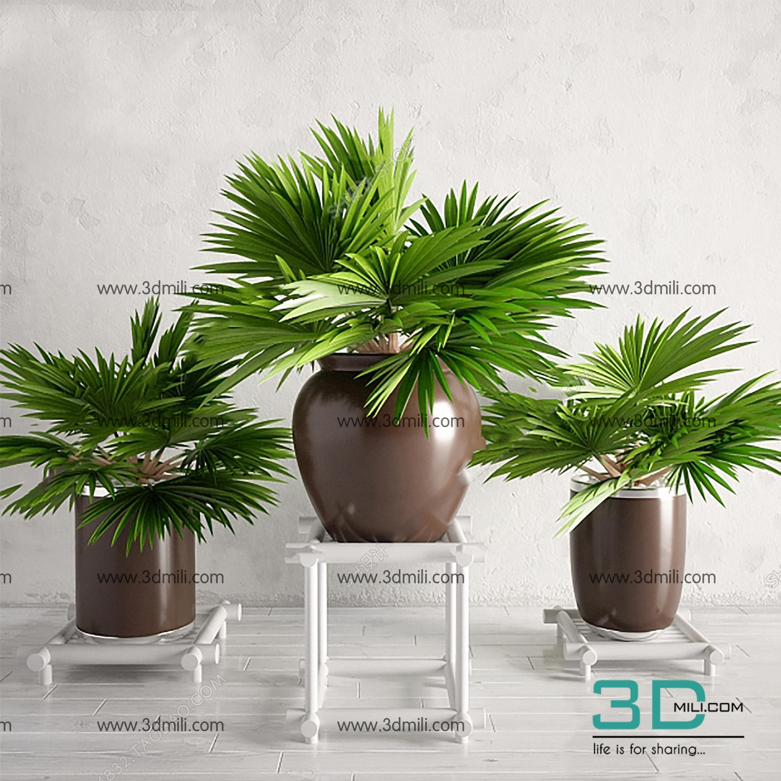 372  Plant 3dsmax Model Free Download - 3D Mili - Download 3D Model